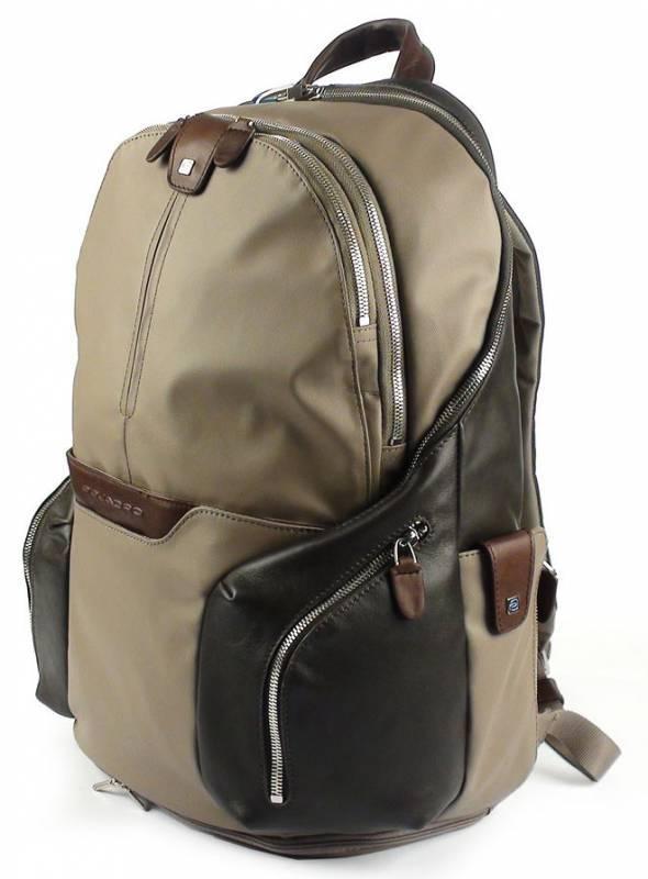 Рюкзак Piquadro Coleos серый, кожа натуральная и искусственная (CA2943OS/TO) - фото 3