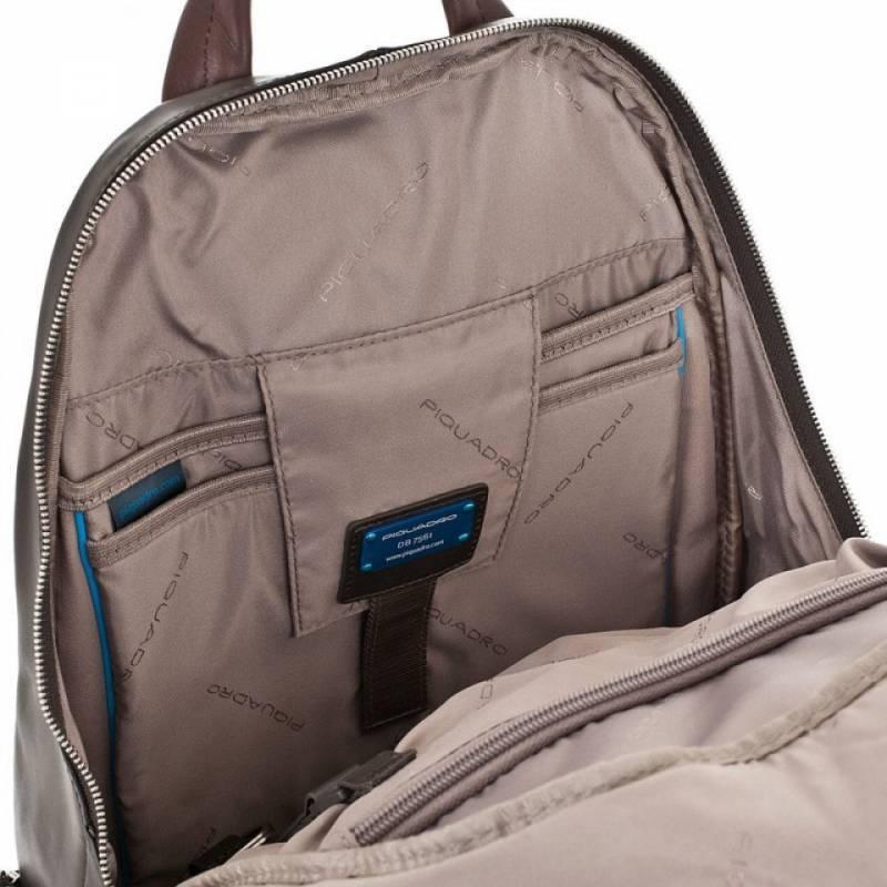 Рюкзак Piquadro Coleos серый, кожа натуральная и искусственная (CA2943OS/TO) - фото 4