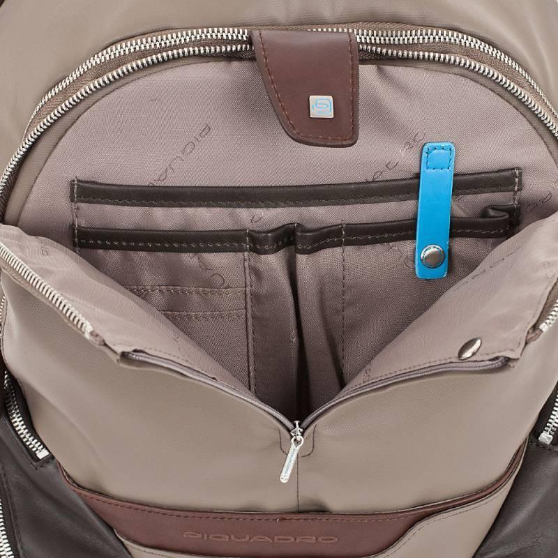 Рюкзак Piquadro Coleos серый, кожа натуральная и искусственная (CA2943OS/TO) - фото 5