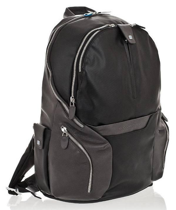 Рюкзак Piquadro Coleos черный, кожа натуральная и искусственная (CA2943OS/N) - фото 1