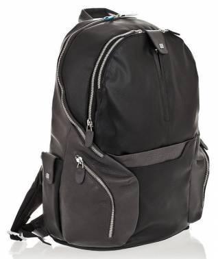 Рюкзак Piquadro Coleos черный, кожа натуральная и искусственная (CA2943OS/N)
