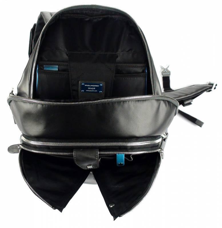 Рюкзак Piquadro Coleos черный, кожа натуральная и искусственная (CA2943OS/N) - фото 3