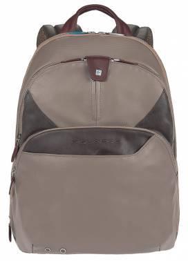 Рюкзак Piquadro Coleos серый, кожа натуральная и искусственная (CA2944OS/TO)
