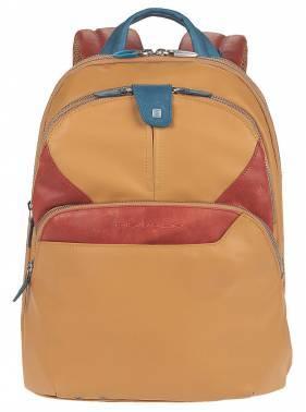 Рюкзак Piquadro Coleos желтый, кожа натуральная и искусственная (CA2944OS/G)