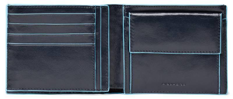 Кошелек мужской Piquadro Blue Square синий, кожа натуральная (PU1240B2/BLU2) - фото 1