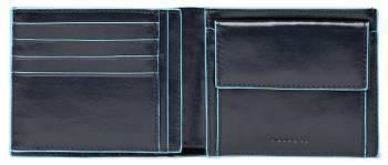 Кошелек мужской Piquadro Blue Square синий, кожа натуральная (PU1240B2/BLU2)