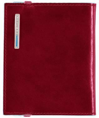 Чехол для кредитных карт Piquadro Blue Square PP1395B2 / R красный натур.кожа