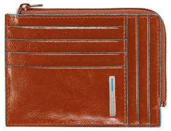 Чехол для кредитных карт Piquadro Blue Square PU1243B2 / AR оранжевый натур.кожа
