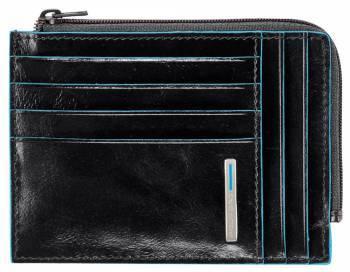 Чехол для кредитных карт Piquadro Blue Square PU1243B2 / N черный натур.кожа