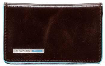 Чехол для визитных карт Piquadro Blue Square PP1263B2 / MO коричневый натур.кожа