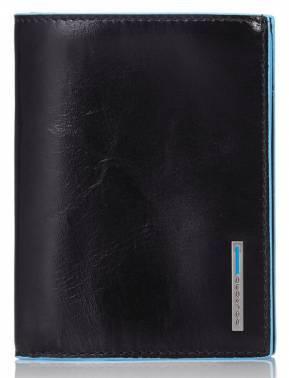 Кошелек мужской Piquadro Blue Square черный, кожа натуральная (PU1129B2/N)