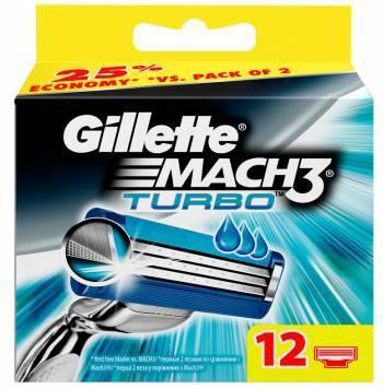 Сменная кассета Gillette Mach3 Turbo (80226393)