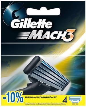 Сменная кассета Gillette Mach3 (80227851)