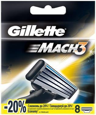 Сменная кассета Gillette Mach3 Turbo (80226354)