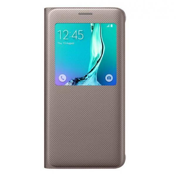 Чехол Samsung S View G928, для Samsung Galaxy S6 Edge Plus, золотистый (EF-CG928PFEGRU) - фото 1