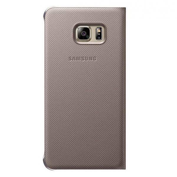 Чехол Samsung S View G928, для Samsung Galaxy S6 Edge Plus, золотистый (EF-CG928PFEGRU) - фото 2