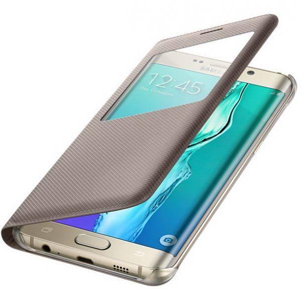 Чехол Samsung S View G928, для Samsung Galaxy S6 Edge Plus, золотистый (EF-CG928PFEGRU) - фото 3