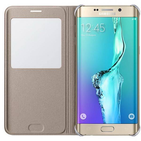 Чехол Samsung S View G928, для Samsung Galaxy S6 Edge Plus, золотистый (EF-CG928PFEGRU) - фото 4