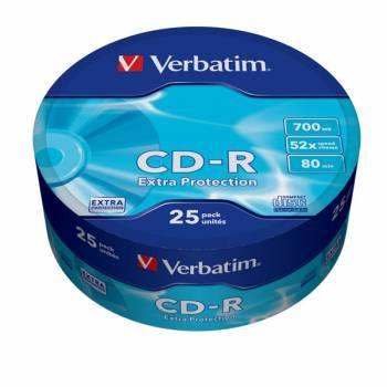 Диск CD-R Verbatim 700Mb 52x (25шт) (43726)