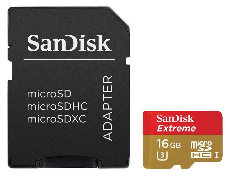 Карта памяти microSDHC 16Gb Class10 Sandisk Extreme SDSQXNE-016G-GN6MA - фото 1