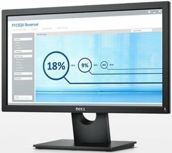 Монитор Dell E2016H черный, диагональ экрана 19.5, разрешение 1600x900, тип матрицы TN, матовая, время отклика 5ms, соотношение сторон 16:9, яркость 250cd, разъемы D-Sub DisplayPort (016H-1934)