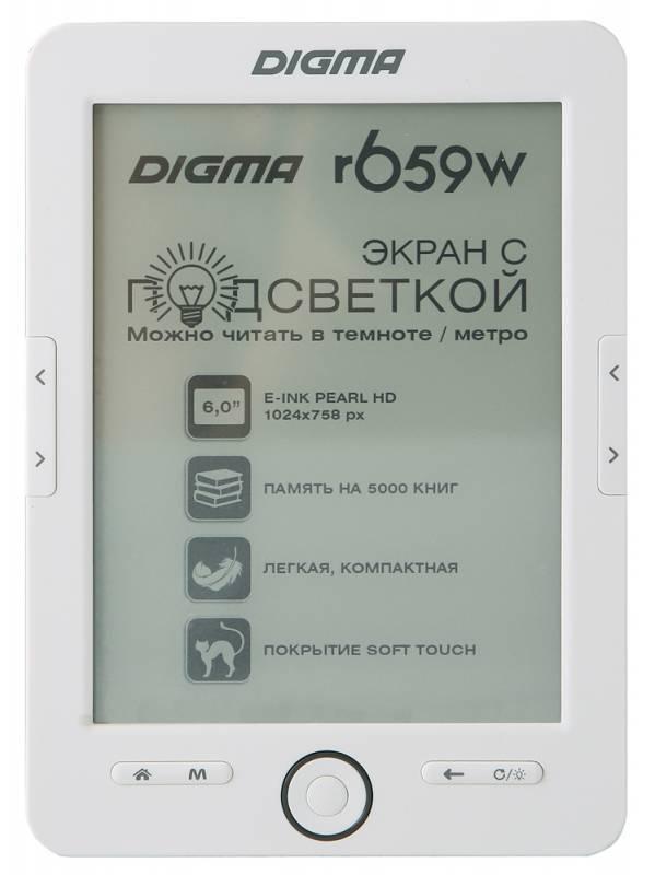 Электронная книга Digma R659W  E-ink HD Pearl Rockchip RK2818 4096Мб белый - фото 1
