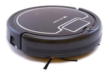 Робот-пылесос Kitfort КТ-503 черный/белый, мощность 25Вт, уборка: сухая, объем пылесборника 0.3л, мощность всасывания 22Вт - фото 1