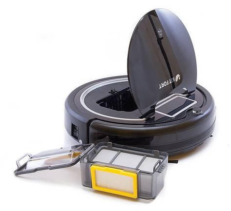 Робот-пылесос Kitfort КТ-503 черный/белый, мощность 25Вт, уборка: сухая, объем пылесборника 0.3л, мощность всасывания 22Вт - фото 2