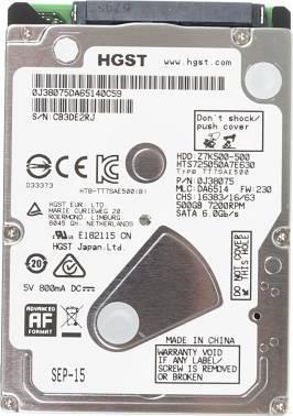 Жесткий диск 500Gb HGST Travelstar Z7K500 HTS725050A7E630 SATA-III