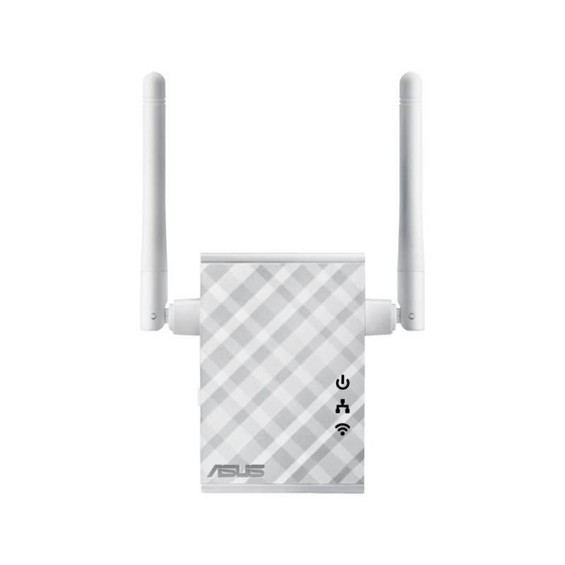 Повторитель беспроводного сигнала/мост Asus RP-N12 белый - фото 1