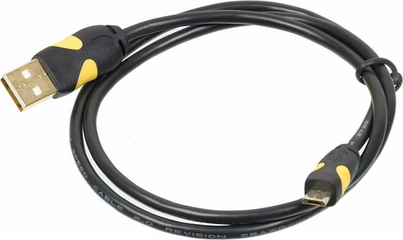Кабель 2A Smooth connector microUSB B (m) USB A(m) 0.75м черный