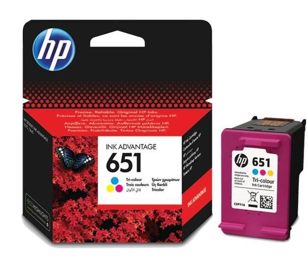 Картридж струйный HP 651 C2P11AE многоцветный - фото 1
