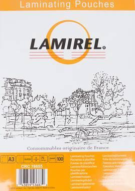 Пленка для ламинирования Fellowes Lamirel A3 75мкм (100шт) (LA-78655)