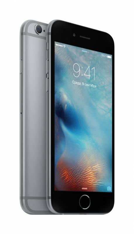 Смартфон Apple iPhone 6s MKQT2RU/A 128ГБ серый - фото 3