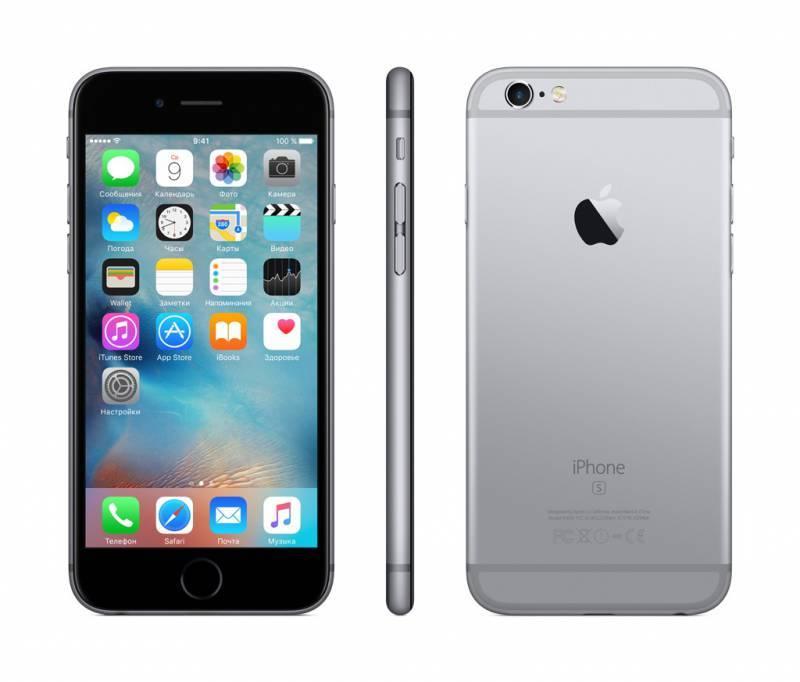 Смартфон Apple iPhone 6s MKQT2RU/A 128ГБ серый - фото 4