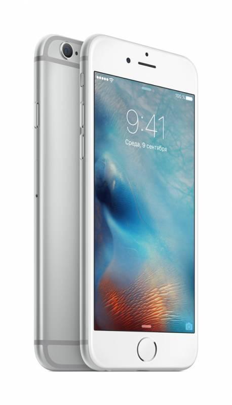Смартфон Apple iPhone 6s MKQU2RU/A 128ГБ серебристый - фото 3