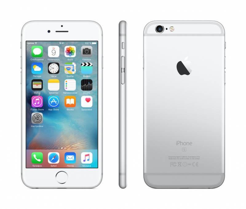 Смартфон Apple iPhone 6s MKQU2RU/A 128ГБ серебристый - фото 4