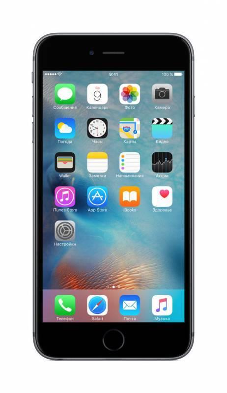 Смартфон Apple iPhone 6s Plus MKU12RU/A 16ГБ серый - фото 1
