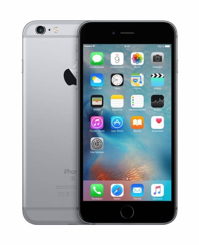 Смартфон Apple iPhone 6s Plus MKU12RU/A 16ГБ серый - фото 2