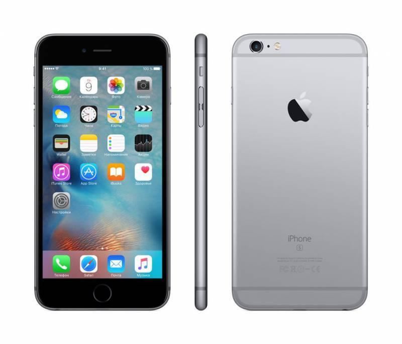 Смартфон Apple iPhone 6s Plus MKU12RU/A 16ГБ серый - фото 3