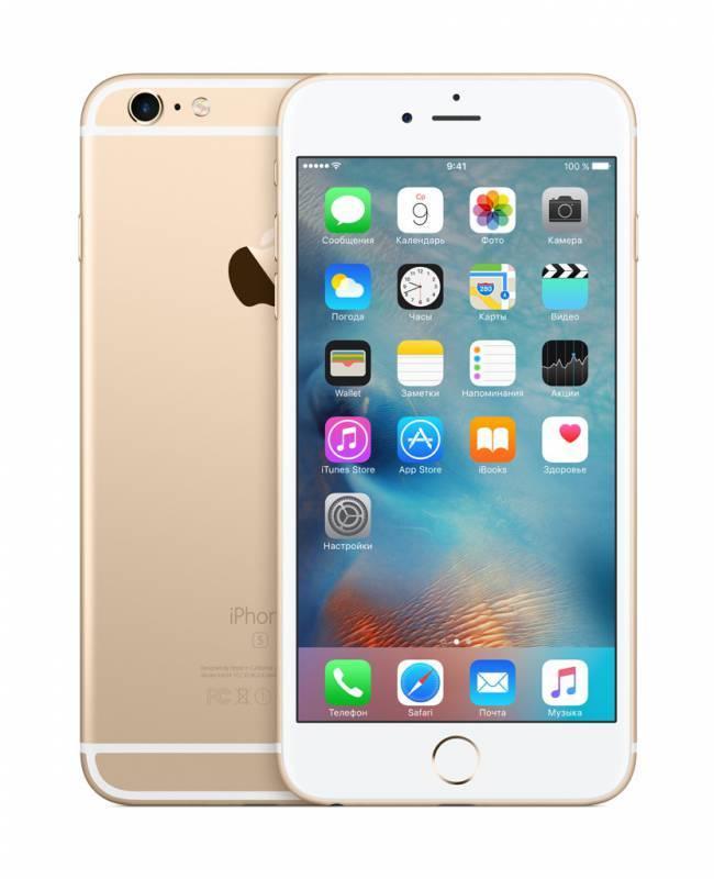 Смартфон Apple iPhone 6s Plus MKU32RU/A 16ГБ золотистый - фото 2