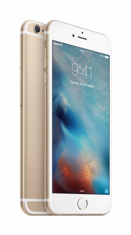 Смартфон Apple iPhone 6s Plus MKU32RU/A 16ГБ золотистый - фото 3