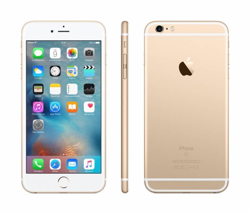 Смартфон Apple iPhone 6s Plus MKU32RU/A 16ГБ золотистый - фото 4