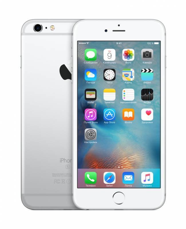 Смартфон Apple iPhone 6s Plus MKU72RU/A 64ГБ серебристый - фото 2