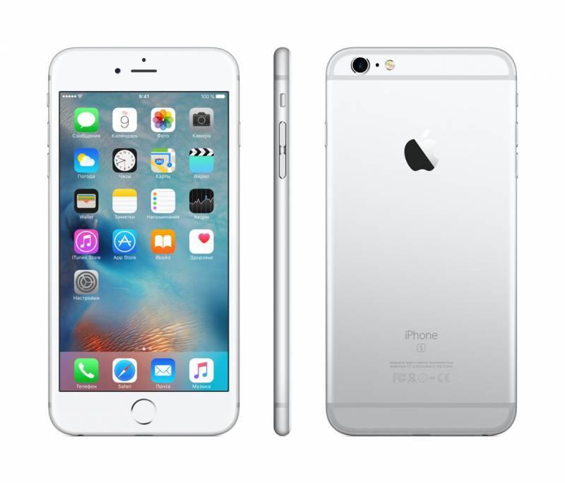 Смартфон Apple iPhone 6s Plus MKU72RU/A 64ГБ серебристый - фото 3