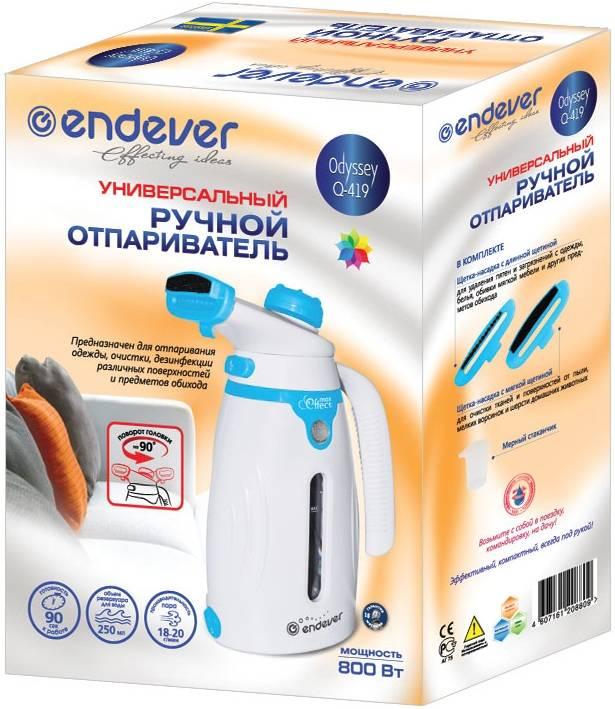 Отпариватель Endever Odyssey Q-419 белый/голубой - фото 2