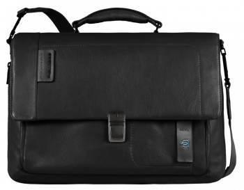 Портфель Piquadro Pulse черный, кожа натуральная (CA3111P15/N)