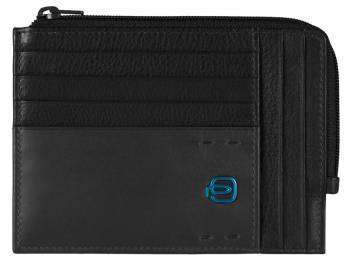 Чехол для кредитных карт Piquadro Pulse PU1243P15/N черный натур.кожа