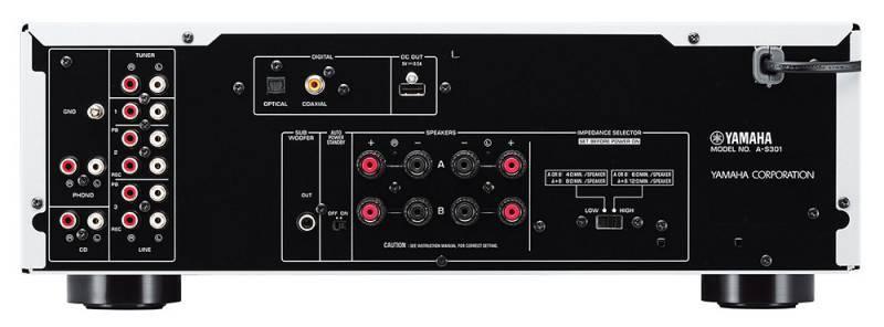 Интегральный усилитель Yamaha A-S301 серебристый (AAS301SI) - фото 2