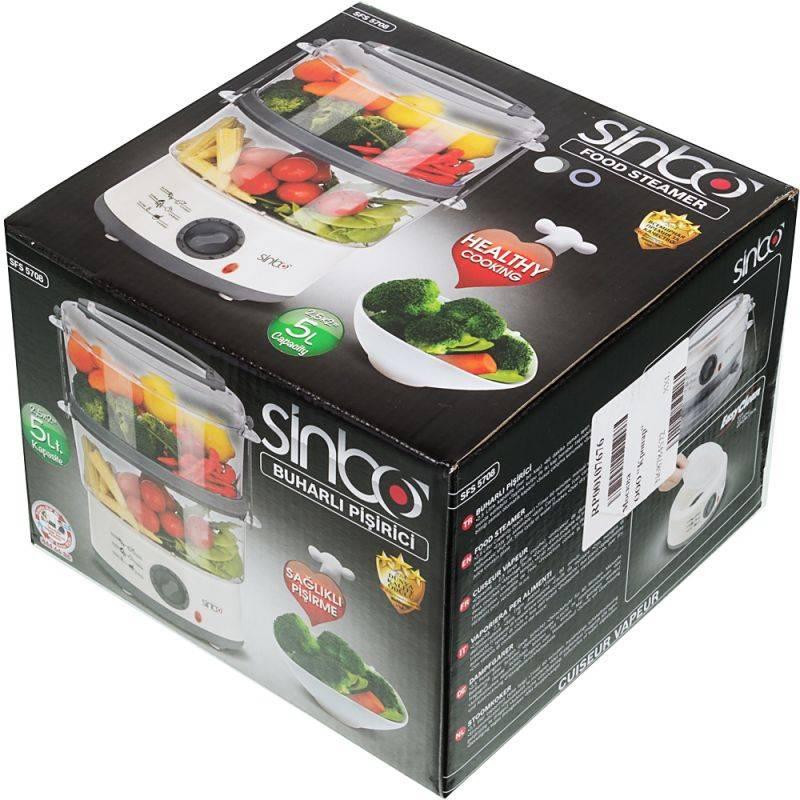 Пароварка Sinbo SFS 5708 белый - фото 4